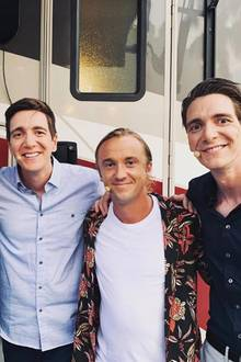 Buddies: Rupert Grint, Oliver (l.) und James Phelps trafen sich jetzt mit Tom Felton in den Universal Studios, und das Bild dieser Harry-Potter-Reunion wollte er seinen Instagram-Fans natürlich nicht vorenthalten.