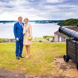 Das Paar besucht die VerteidigungsanlageCamden Fort Meagher.