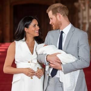 Herzogin Meghan und Prinz Harry mit ihrem SohnArchie Mountbatten-Windsor