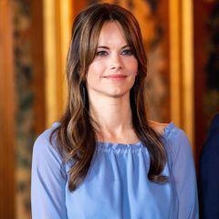 Auch Prinzessin Sofia nimmt am Empfangskomitee teil.