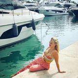 """Nach den harten Trainingswochen für """"Let's Dance"""", gönnt sich Evelyn Burdecki nach ihrem Ausscheiden aus der Tanzshow eine Auszeit auf Mallorca."""