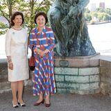 Kunst steht auf dem Programm: Königin Silvia besucht mit Kim Jung-sook das Freilichtmuseum Waldemarsudde.