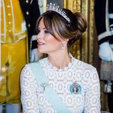 Auch Prinzessin Sofia hat sich für ihr Hochzeitsdiadem entschieden und es für diesen Anlass mit Perlen verzieren lassen.