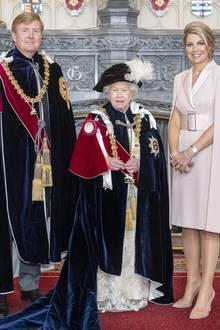 König Willem-Alexander, Queen Elizabeth, Königin Máxima