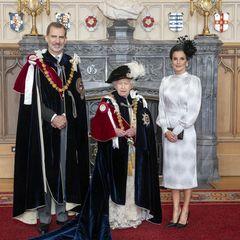 König Felipe, Queen Elizabeth, Königin Letizia