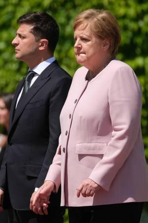 Wolodymyr Selenskyj, Angela Merkel