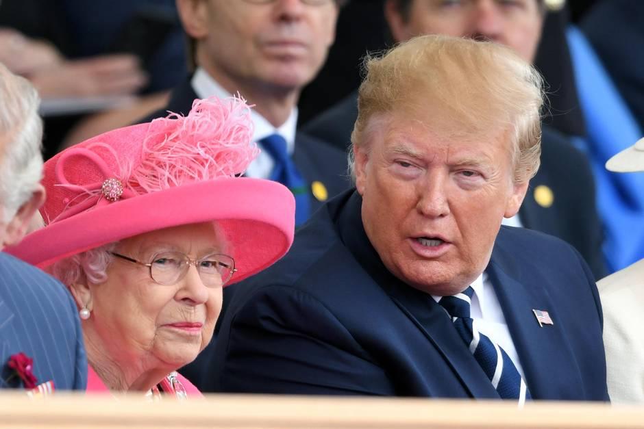 Queen Elizabeth und Donald Trump