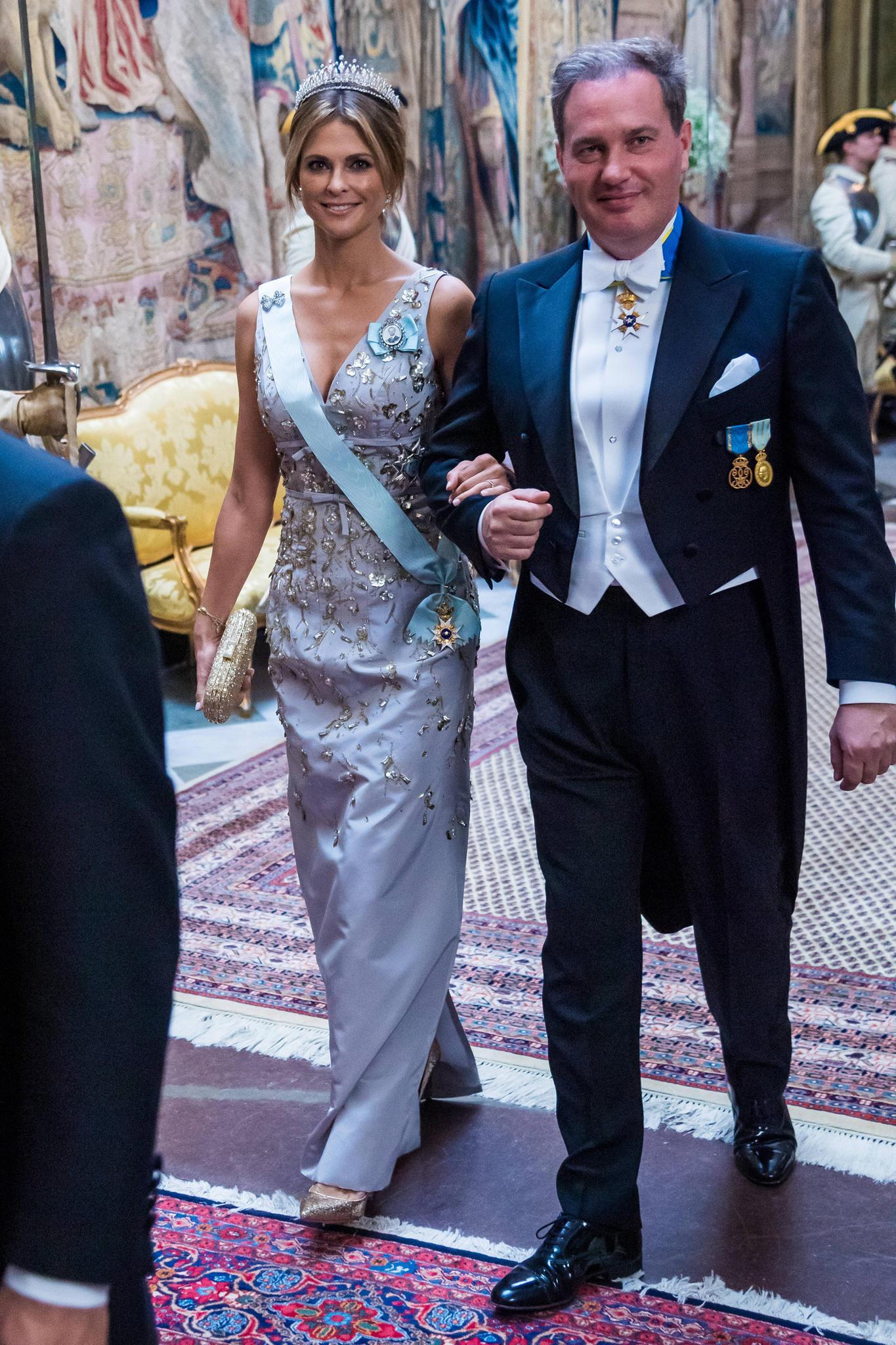 Prinzessin Madeleine und Chris O'Neill beim Staatsbankett zu Ehren des südkoreanischen Präsidenten Moon Jae-in