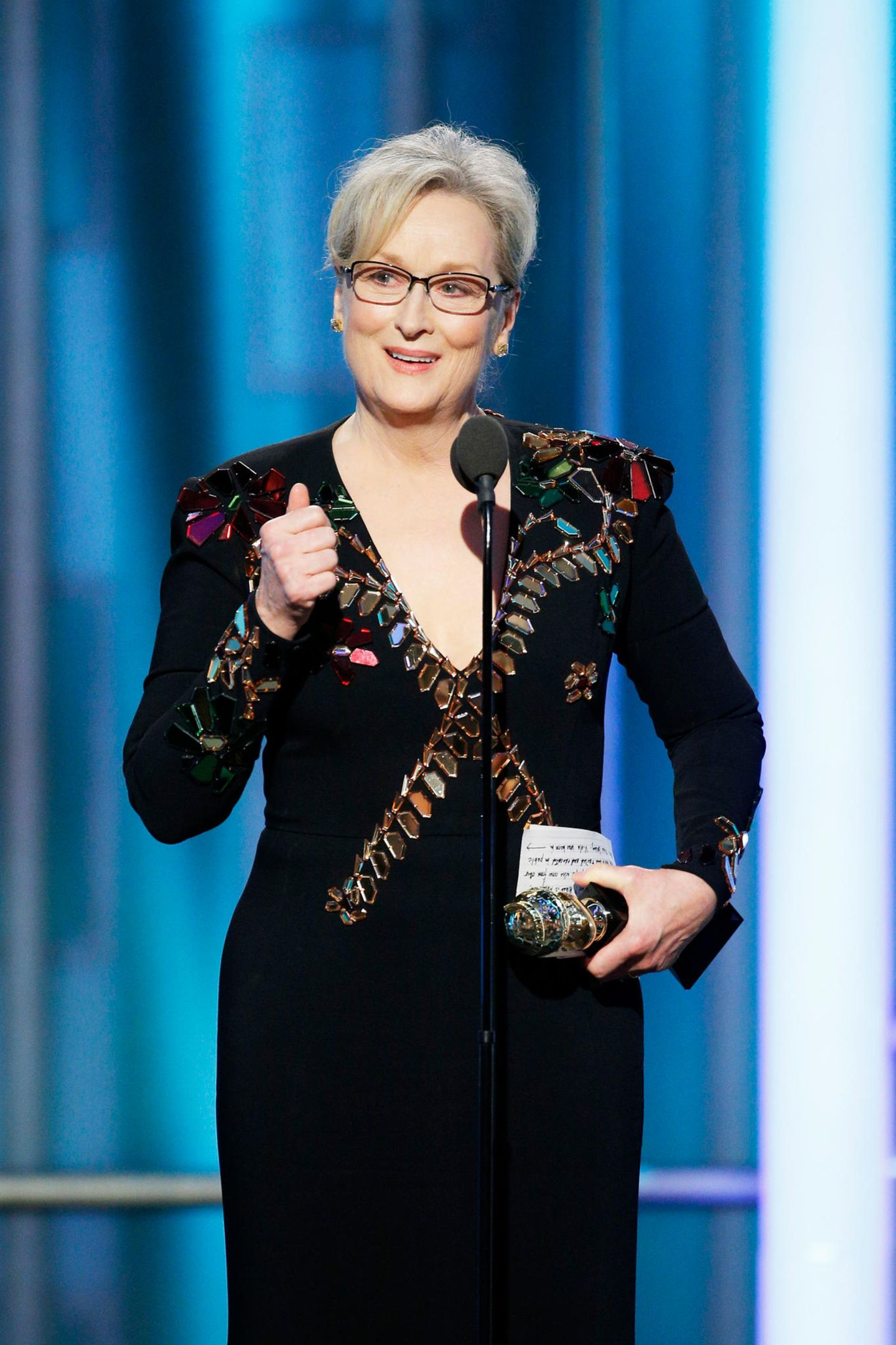 Legendär: Bei den Golden Globes 2017 hält sie eine Rede, in der sie den künftigen US-Präsident Donald Trump kritisiert, ohne dessen Namen zu nennen.