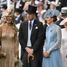 Königin Máxima, Prinz William und Herzogin Catherine in Ascot