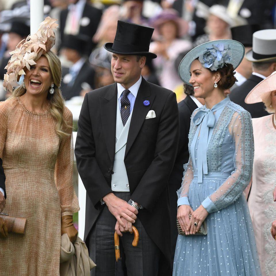 Königin Máxima, Prinz William und Herzogin Catherine in Ascot