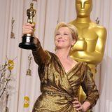 """Für ihre Darstellung der ehemaligen britischen Premierministerin Margaret Thatcher in """"Die Eiserne Lady"""" gewinnt Meryl Streep 2012 ihren dritten Oscar."""