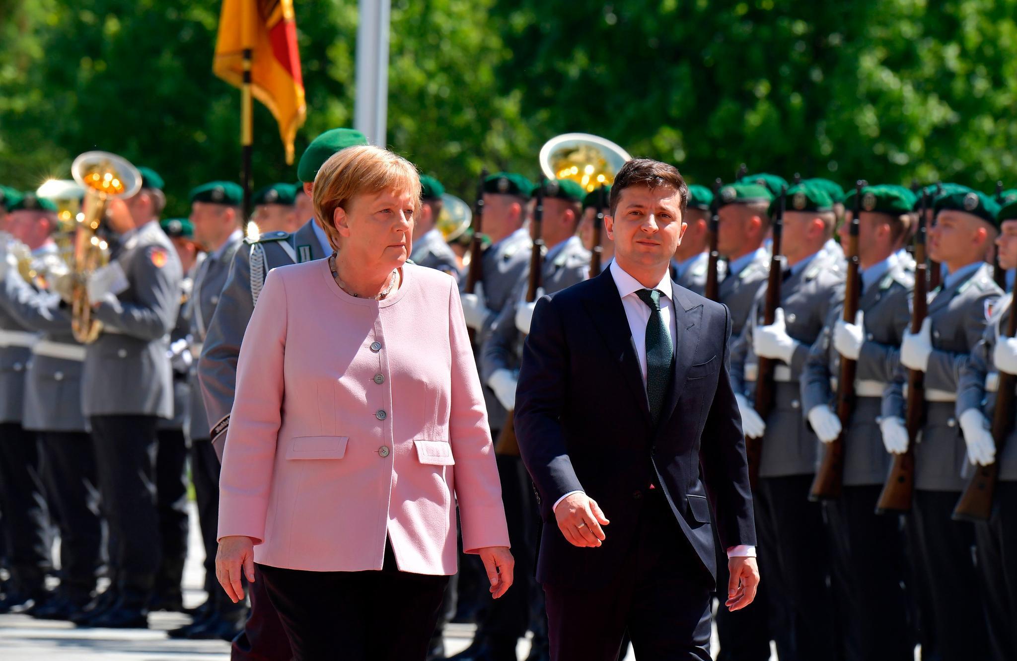 Angela Merkel,Wolodymyr Selenskyj