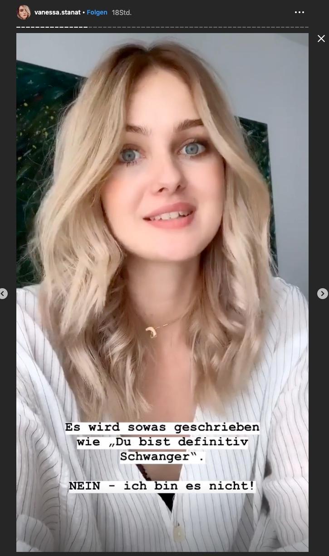 Vanessa Stanat räumt bei Instagram mit den Schwangerschaftsgerüchten auf