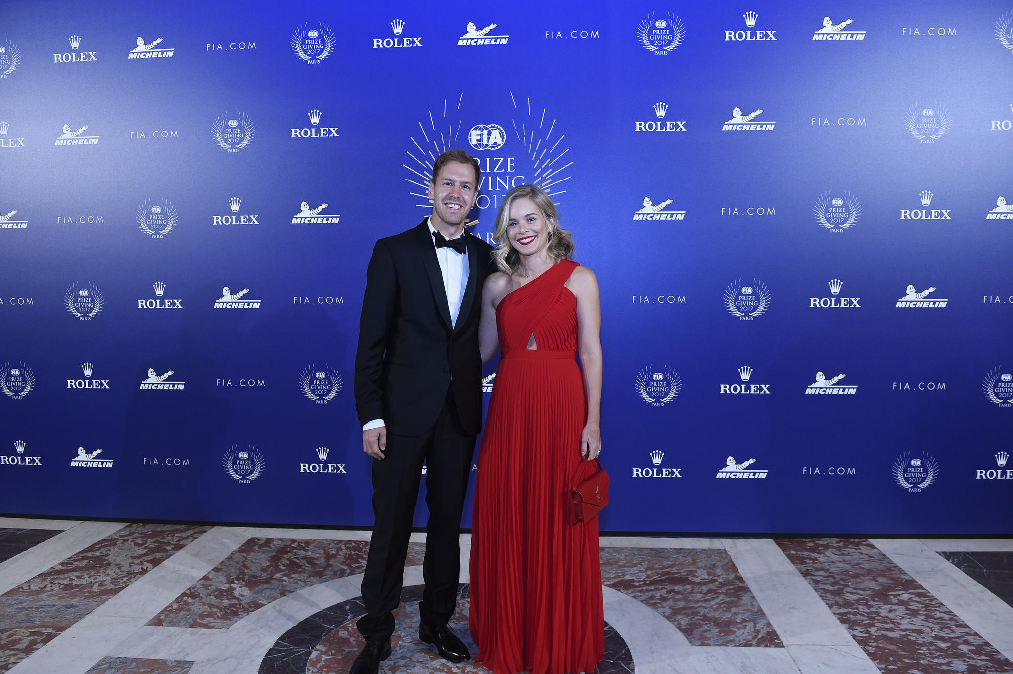 Sebastian Vettel und Hanna Prater