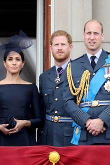 Herzogin Meghan, Prinz Harry undPrinz William
