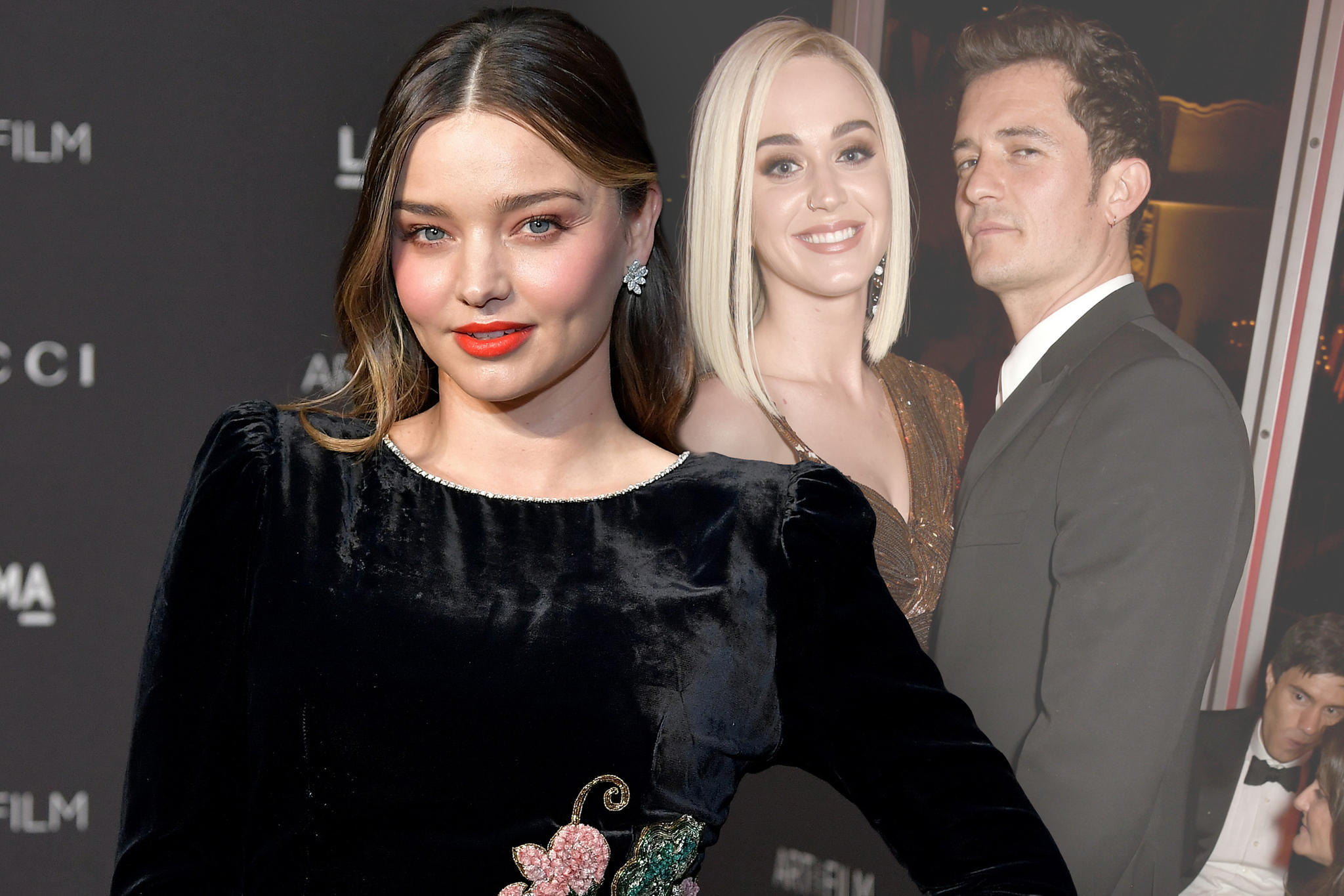 Miranda Kerr, Katy Perry + Orlando Bloom