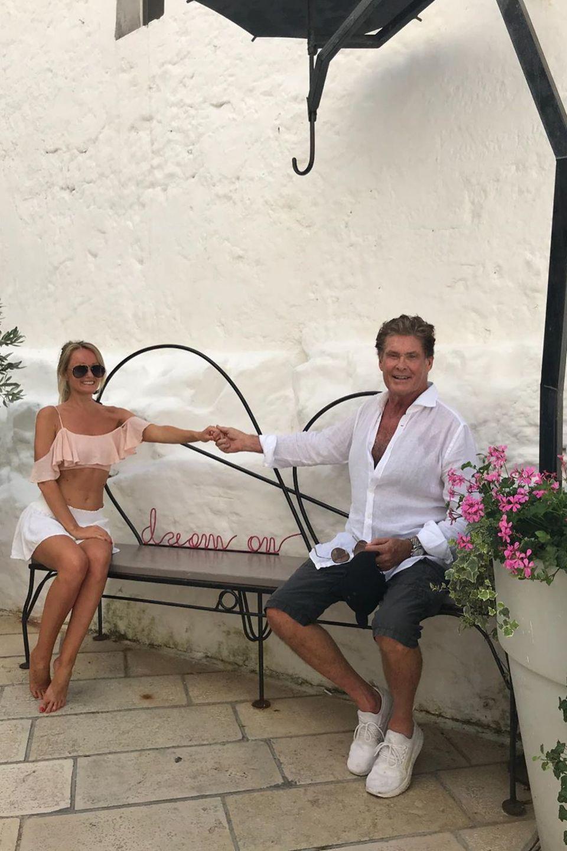 21. Juni 2019  David Hasselhoff urlaubt mit seiner LiebstenHayley Roberts ganz romantisch in Italien.