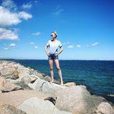 22. Juni 2019  Model Franziska Knuppe lässt sich an der Ostsee den Wind um die Nase wehen.