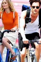 Fitness: Stars auf dem Fahrrad