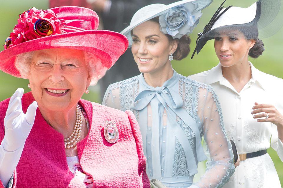 Queen Elizabeth, Herzogin Catherine + Herzogin Meghan