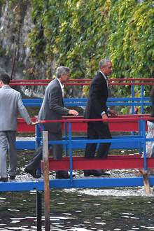 George Clooney und Barack Obama am Comer See