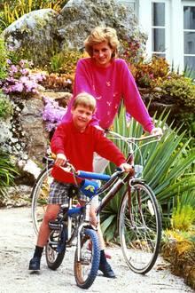 Prinzessin Diana + Prinz William im Jahr 1989
