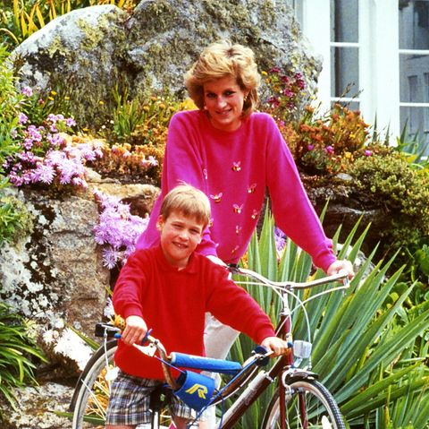 Prinzessin Diana + Prinz William im Jahr 1989