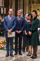 Prinz William, Prinz Harry, Herzogin Meghan und Herzogin Catherine