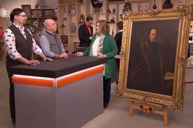Colmar Schulte-Goltz und Horst Lichter sind begeistert von dem Gemälde
