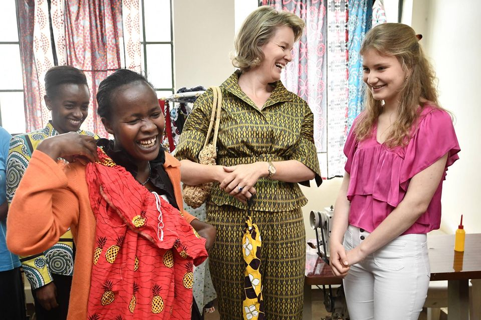 "Am zweiten Tag ihrer humanitären Reise nach Kenia besuchen Mathilde und Elisabeth das ""Amref Dagoretti Child Protection and Development Centre"" in Dagoretti."