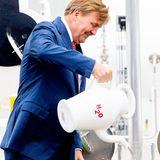 """26. Juni 2019  König Willem-Alexander eröffnet in Veendam die neue grüne Wasserstoffanlage """"HyStock""""."""