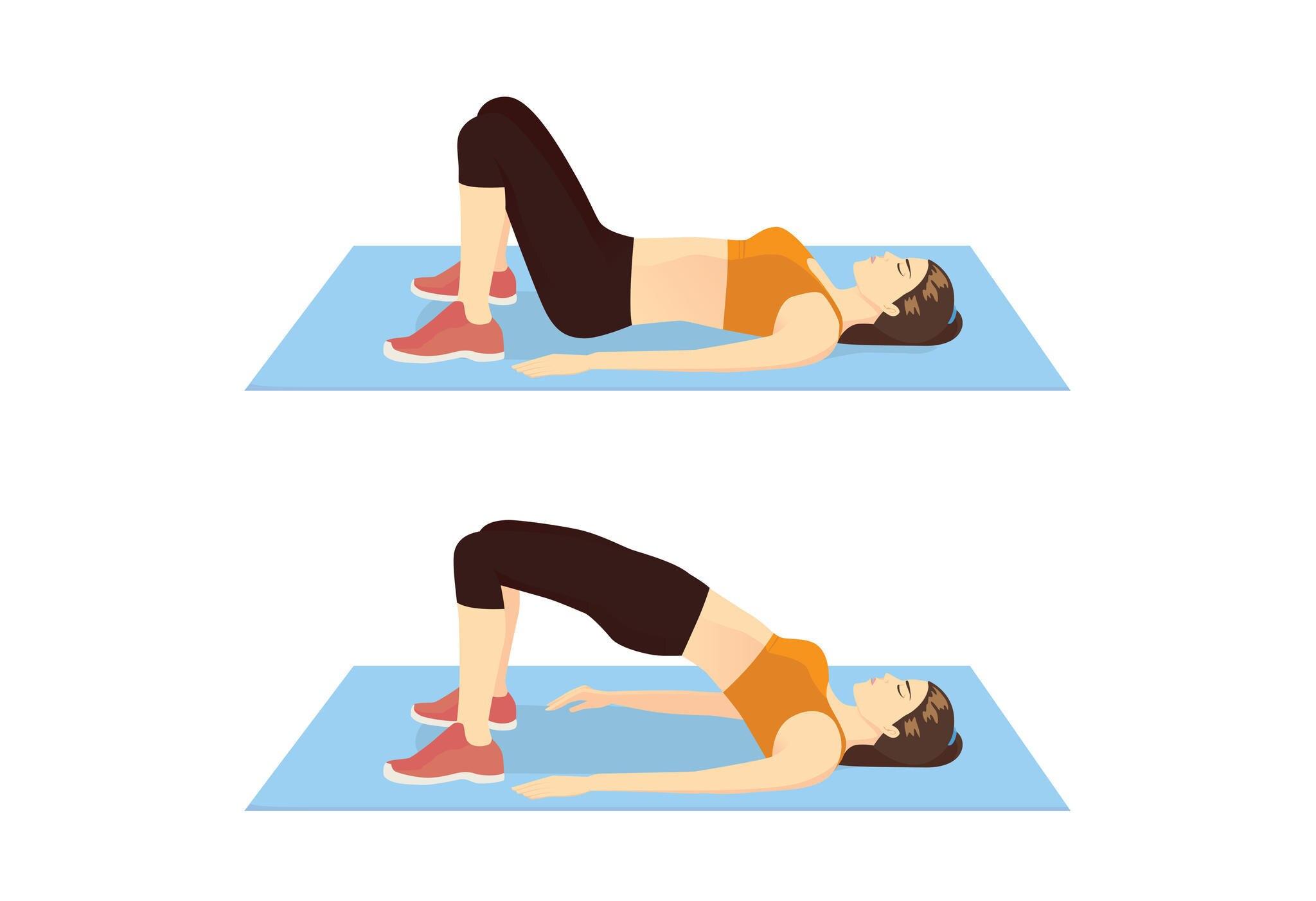 Der Hüftheber ist eineklassische Trainingsübung, um das Becken zu trainieren.