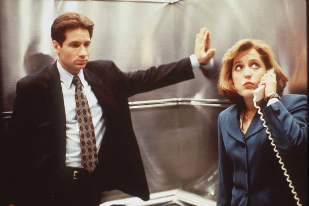 David Duchovny + Gillian Anderson bei Akte X
