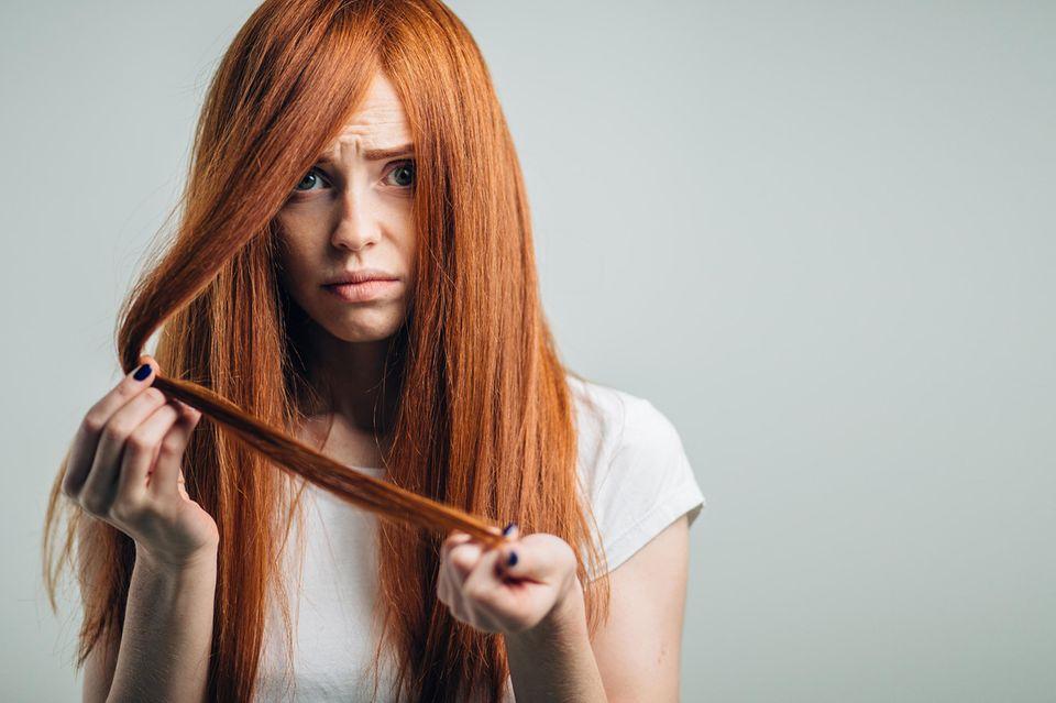 Haarbruch, Haare brechen ab, geschädigtes Haar, Haarproblem