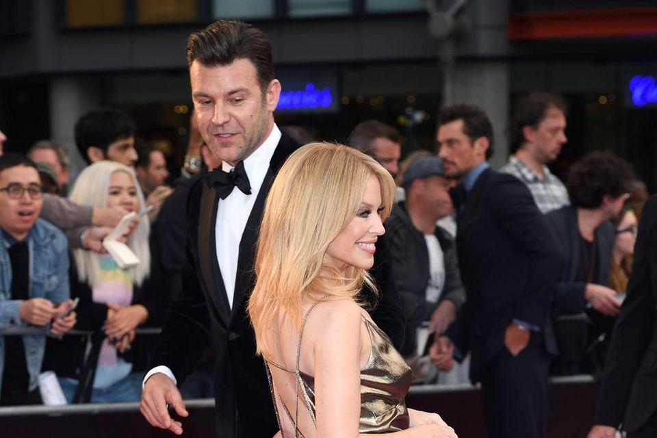 Paul Solomons und Kylie Minogue