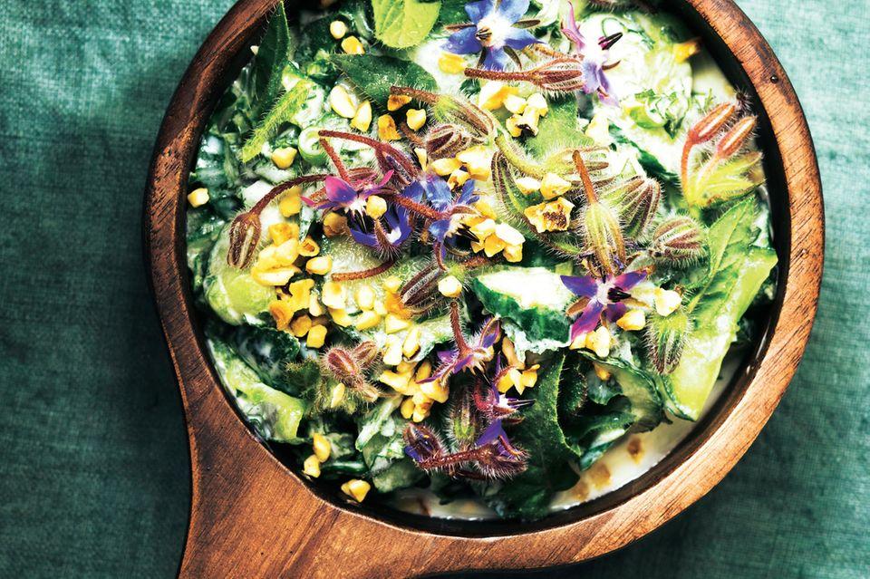 Borretsch-Gurken-Salat