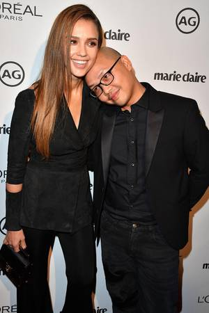 Jessica Alba und ihr Make-up-Artist Daniel Martin, dem sie zu 100 Prozent vertraut.