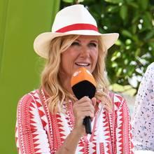 """Andrea Kiewel im """"ZDF-Fernsehgarten"""""""