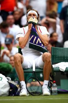 Sichtlich enttäuscht: Alexander Zverev nach seinem überraschenden Erstrunden-Aus in Wimbledon.