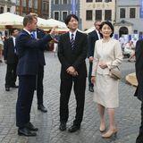 28. Juni 2019  Das japanische Kronprinzenpaar unternimmt eine Sightseeing-Tour durch die historische Altstadt.