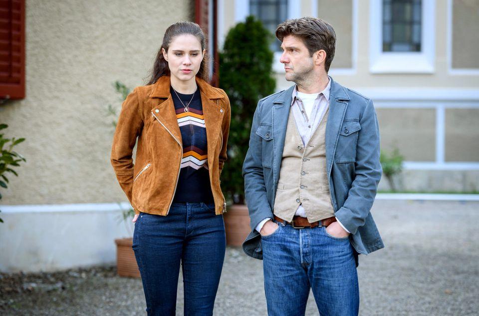 Sturm der Liebe:Elmar (Jens Nünemann) und Denise (Helen Barke)
