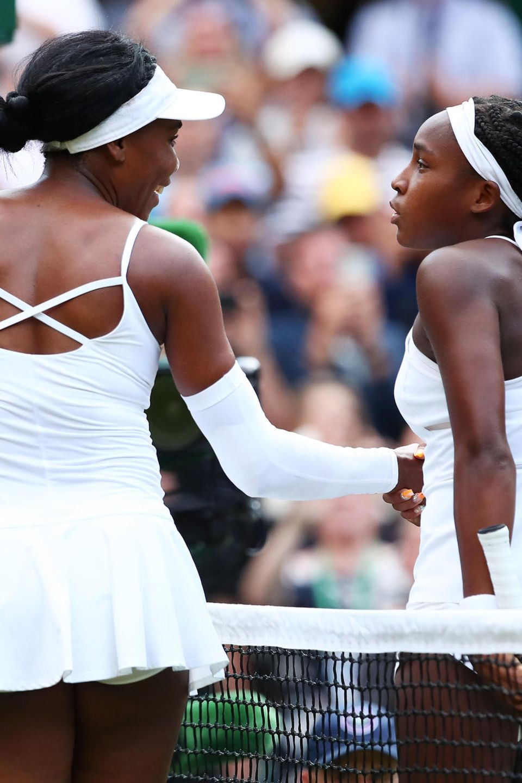 Venus Williams (l.) und Cori Gauff