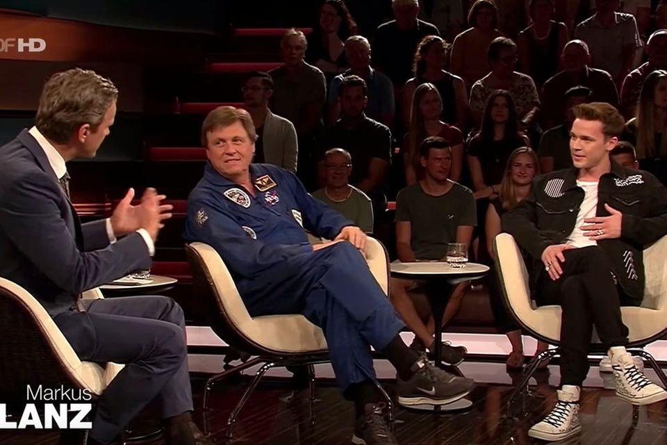 Markus Lanz mit seinen GästenUlrich Walter (Astronaut) und Star-DJ Felix Jaehn