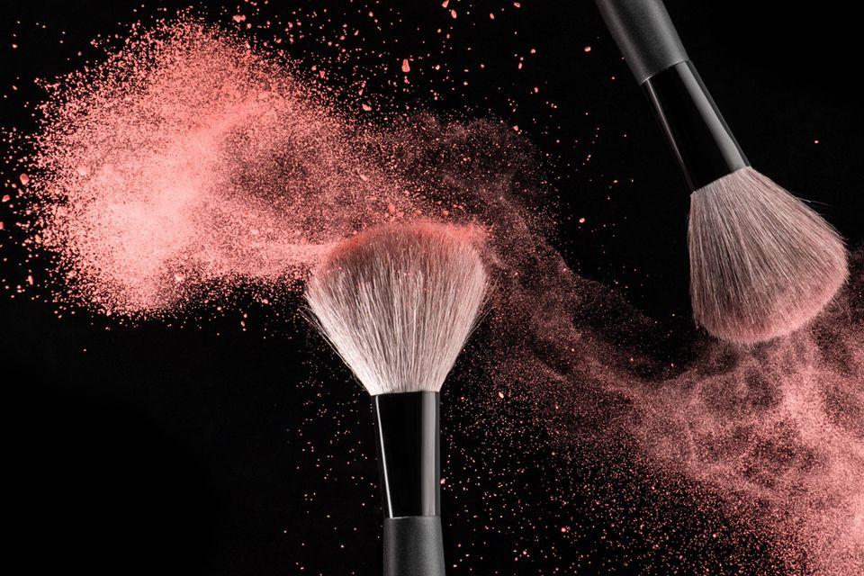 Make-up-Pinsel reinigen, Rouge, Staub, Lidschatten
