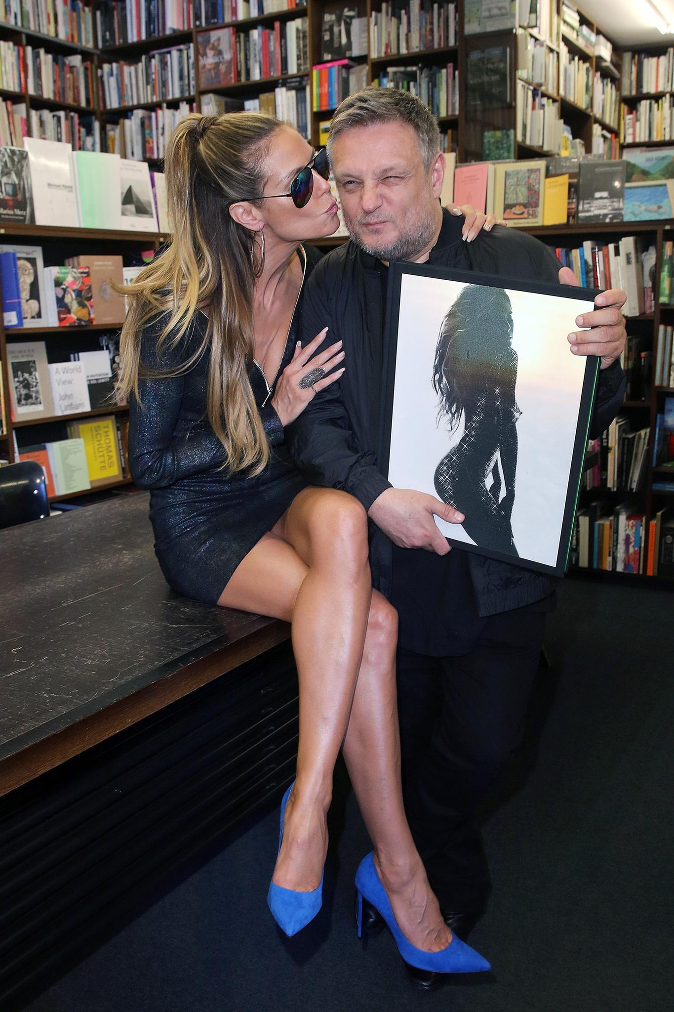 Heidi Klum und der britische Portrait- und Modefotograf Rankin