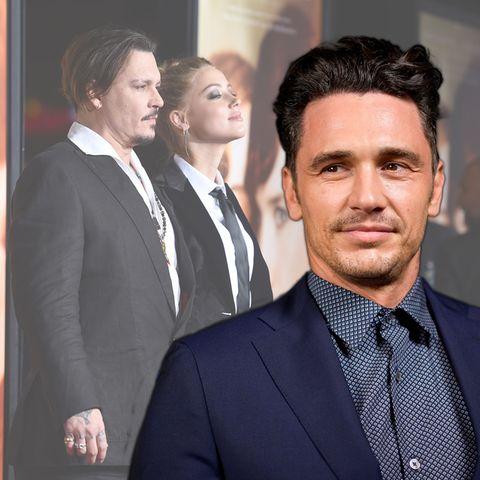 Johnny Depp, Amber Heard und James Franco (v.l.n.r.)
