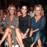 Und noch mehr Frauenpower in der Front Row:Bettina Cramer, Mariella Ahrens und Nova Meierhenrich (v.l.)
