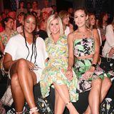 Cassandra Steen, Beatrice Egli und Fiona Erdmann verschönern die Front Row mit ihren sommerlichen Looks.