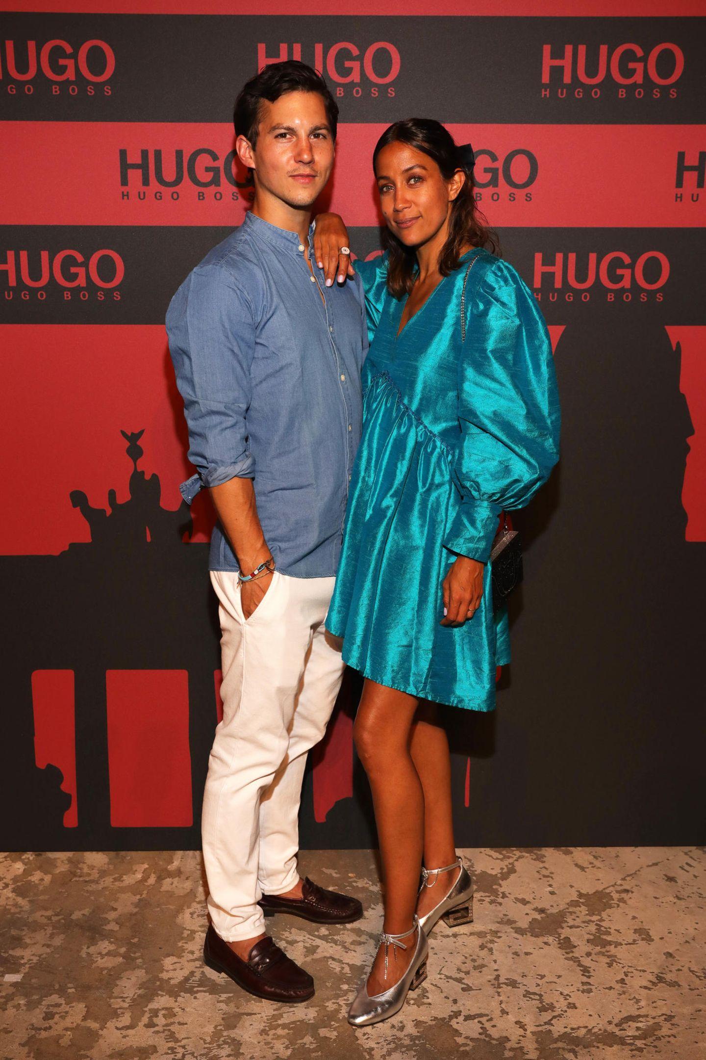 Tim Oliver Schultz und Rabea Schif lassen sich die HUGO Launch Party ebenfalls nicht entgehen.